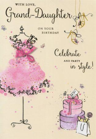 Large Simon Elvin Birthday Cards Granddaughter