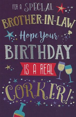 Simon Elvin Greetings Large Birthday Cards Brother In Law Wgc