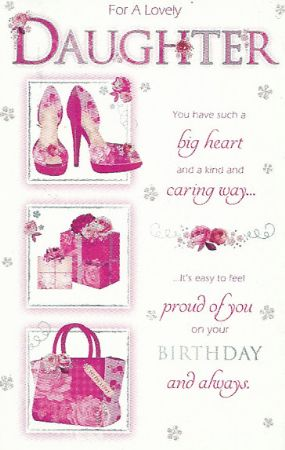 Simon Elvin Greetings Large Birthday Cards Daughter
