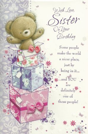 Simon Elvin Large Birthday Cards Sister
