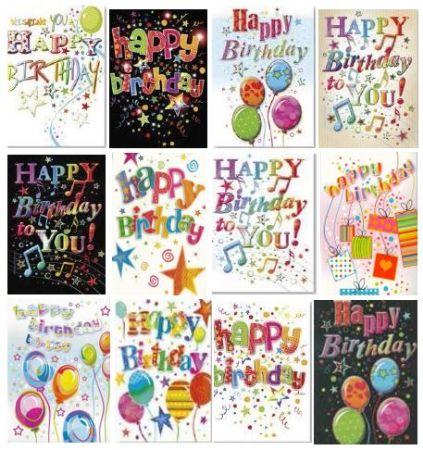 72 Unisex Open Birthday Cards