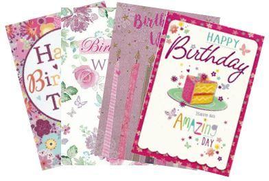 144 Open Female Birthday Cards