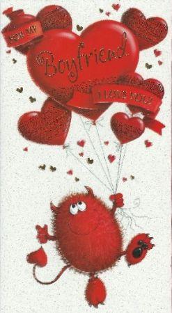 Simon Elvin Cute Slim Valentine Cards Boyfriend Wgcv Vse23643