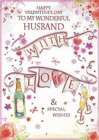 Large Valentine Cards Husband Wgcv Y30b1090 Wholesale Valentine